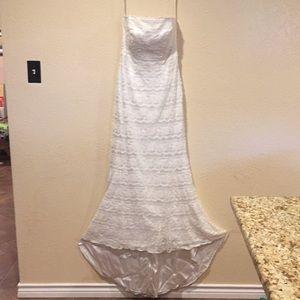 Galina ivory wedding dress. Mermaid.